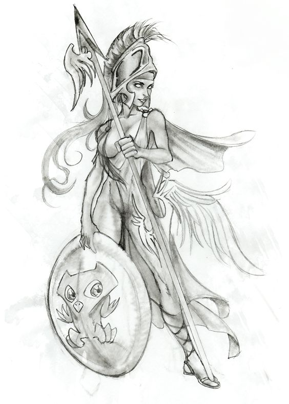 Greek mythology Tattoo, Athena, goddess of planning ...