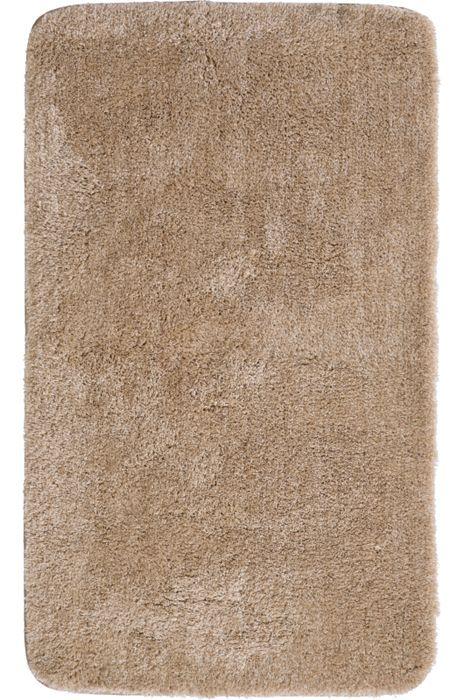 Der flauschige Badteppich Lex in beige hat eine Florhöhe von 32 mm und ist aus Polyacryl ultrasoft. Der Teppich ist waschbar bei 40°C und geeignet für Fußbodenheizung. Die Rückseite ist rutschhemmend beschichtet.