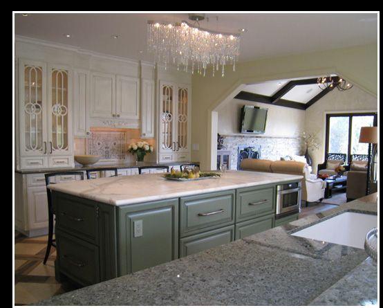 cabinets marbles green chandeliers royals cabinets islands doors love