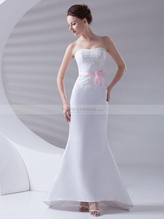 Ashanti - sirena treno pennello abito da sposa in raso con perline