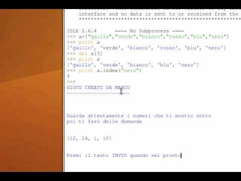 Tutorial 27 - Imparare Python - #Corso #Imparare #ITA #Italiano #Lezione #Lezioni #Linguaggio #Liste #Programma #Programmare #Programmazione #Python #Tutorial #Video http://wp.me/p7r4xK-JG