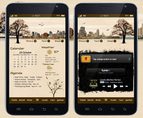 55 Cool Android Homescreens for Your Inspiration | Android ...
