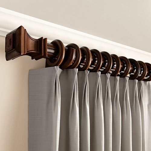 Kirsch 2 Inch Wood Trends Drapery Hardware Set Drapery Hardware Wood Curtain Rods Wooden Curtain Rods