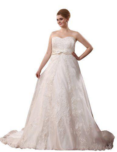 http://www.weddingstuff2014.com JOLLY BRIDAL Satin Appliqued Sweetheart Wedding Dress Plus Size, Size 6 Jolly Bridal,http://www.amazon.com/dp/B00H0GY8PA/ref=cm_sw_r_pi_dp_l-zktb0A55HA9SQF