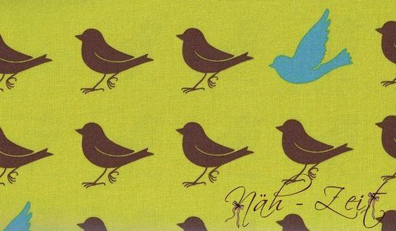Baumwollstoff Sparrow von Momo