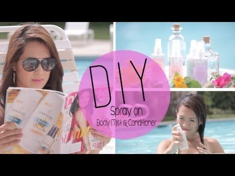 "Healthy DIY Body Mist & Spray-on Conditioner – Homemade & healthy recipes   |  Video (5:00): ""DIY Refreshing Summertime Body Mist & Spray on Conditioner {How to} by ANNEORSHINE"" published on June 23, 2013 by Anne Le {Anneorshine} via YouTube"