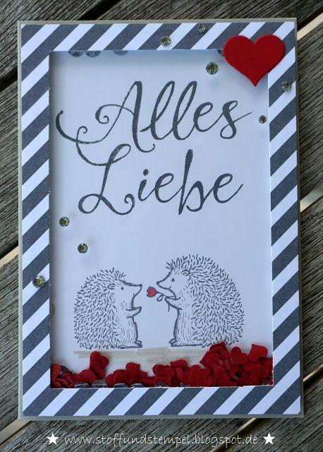 Stoff und Stempel / Schüttelkarte / Love you lots / Stampin Up!