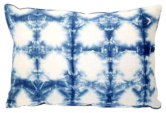 Shibori indigo pillow by Acapillow