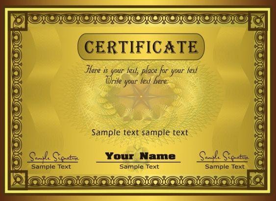 gorgeous diploma certificate template Certicate Pinterest - blank certificate format