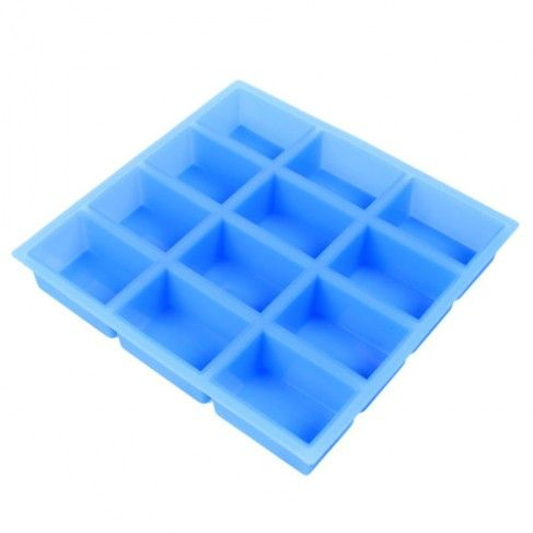 Silicone Rectangle Soap Mold (12 Cavity) - each cavity holds 4 oz. - $13.50 - bulkapothecary.com