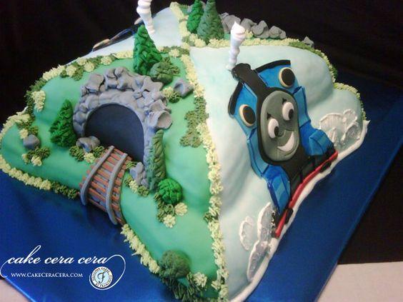Thomas The Train Cake  by Cake Cera Cera www.CakeCeraCera.com