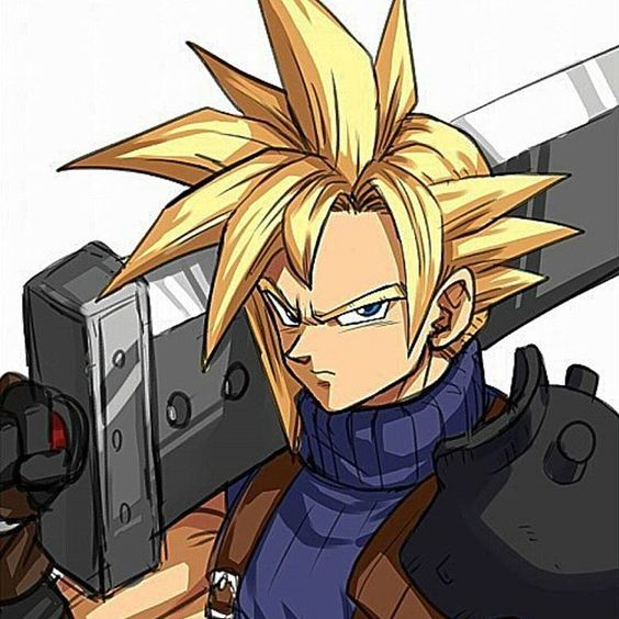Cloud Akira Toriyama style Final Fantasy VII #FFVII 7 Dragon Ball