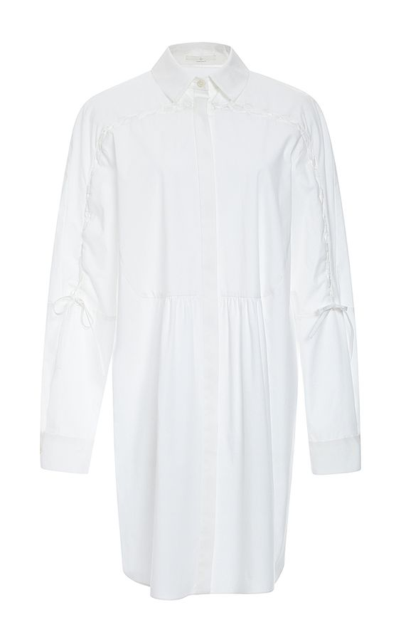 Cotton Poplin And Lace Shirtdress  by Thakoon Addition Now Available on Moda Operandi