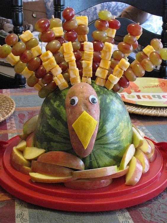 Fruit tray ideas cute turkey platter party