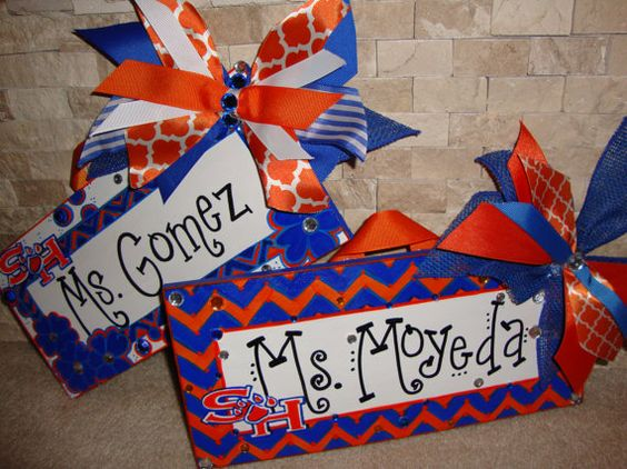Teacher Name Sign Sam Houston University on Etsy, $35.00