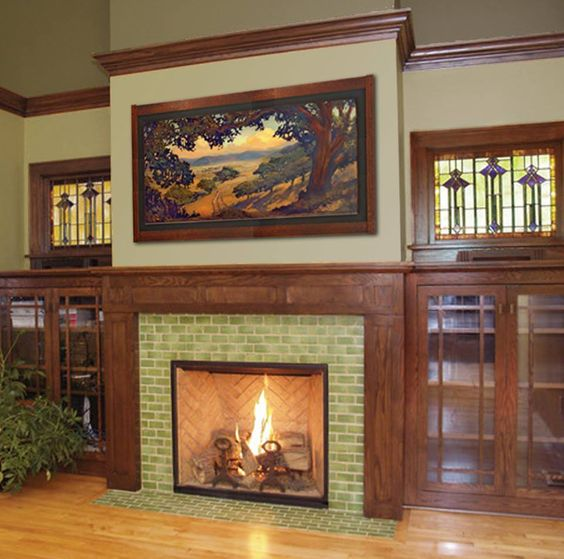Fireplaces the fireplace and craftsman on pinterest for Craftsman fireplaces photos
