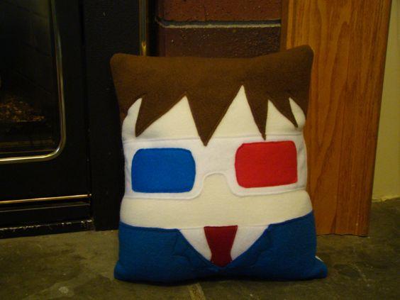 10th Doctor David Tennant pillow plush cushion by telahmarie, $30.00