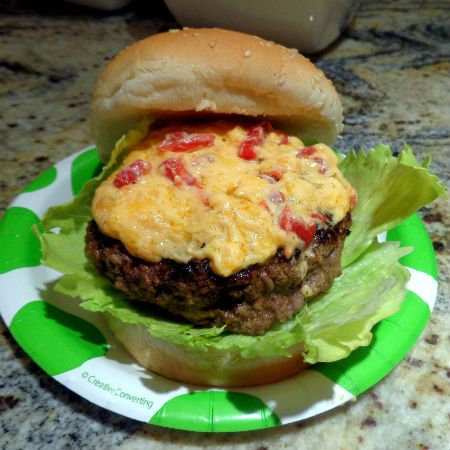 One Perfect Bite: Pimento Cheese Burger Topping + Basic Grilled Hamburgers