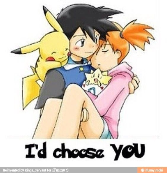 Pokemon <3 - Ash x Misty I usually ship Ash×May but this is just to sweet :)
