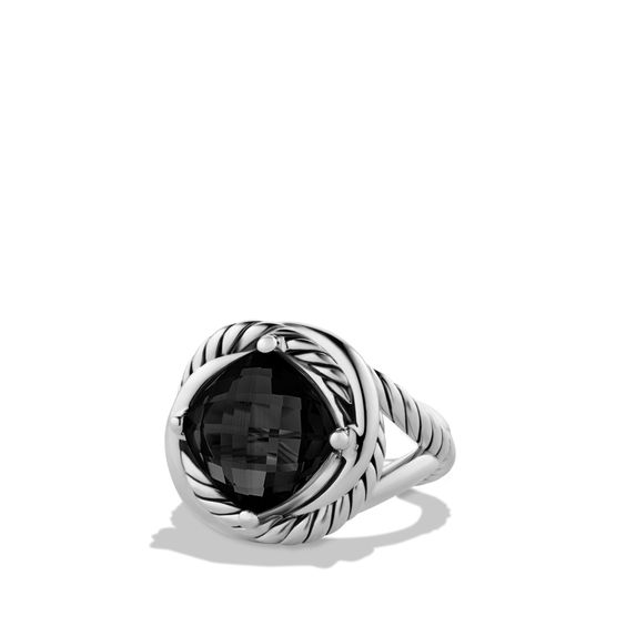 Infinity Ring with Black Onyx~ DY