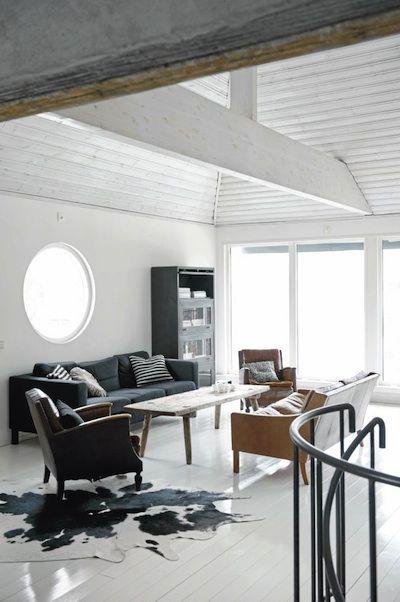 Schwedische Haus Design Idee mit malerischer Landschaft