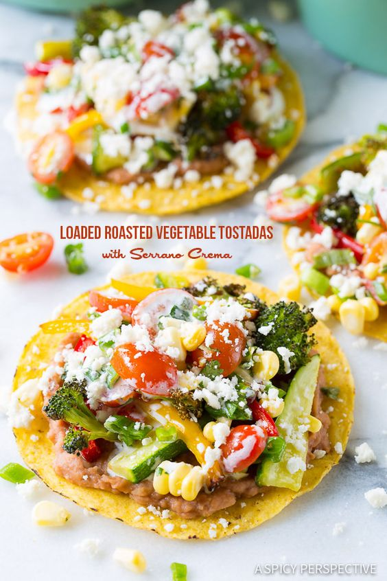 Roasted Vegetable Tostadas | Recipe | Perspective, Corn ...