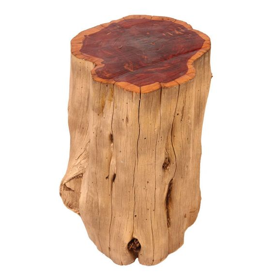 Rustique Cedar Tree Stool.  Love this for a porch or extra holiday family seating
