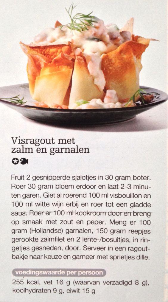Visragout met zalm en garnalen. Boodschappen nr 12 | kerst 2014