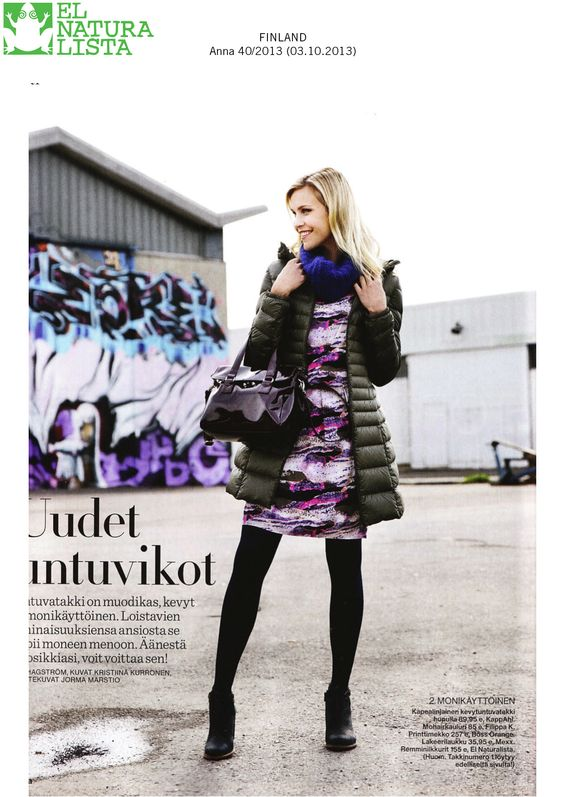 Very happy to have our Colibri N472 featured in @annalehti  (Anna Magazine from Finland)