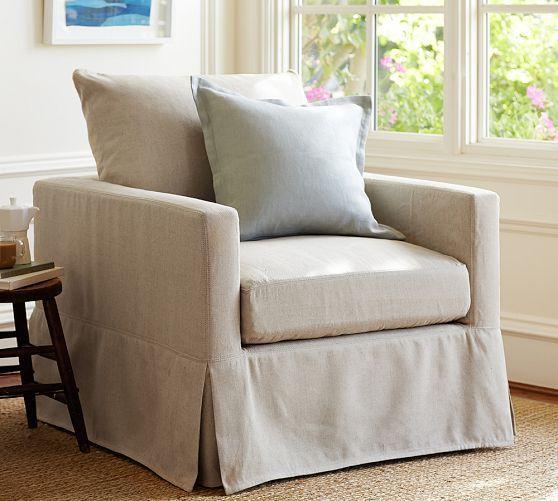 Catalina Slipcovered Armchair Pottery Barn Furniture Armchair Decor