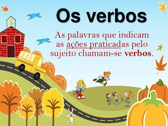 Os verbos As palavras que indicam as ações praticadas pelosujeito chamam-se verbos.