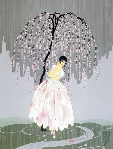 "Amazon.com: ""Blossom Umbrella"" BIG Art Deco Print by Erte - I will have this print for a little girl's room when the time comes"