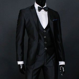 JEJE Slim Fit Shiny Black Mens Suit Tuxedo US 37R | eBay | Starr