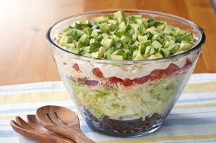 Layered Tex-Mex Taco Salad recipe