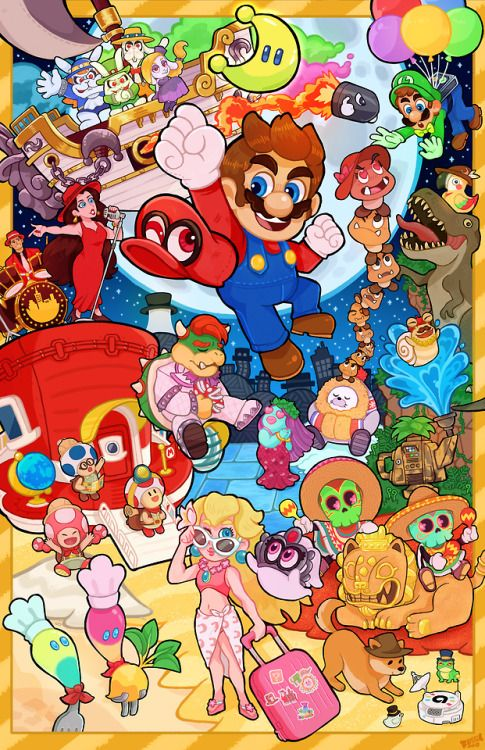 Jump Up Superstar Super Mario Odyssey By Fossil Arm