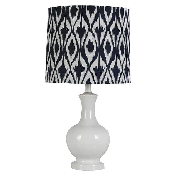 Threshold� Ceramic Diamond Ikat Table Lamp