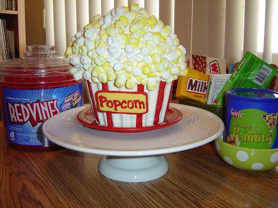 Movie Night Cake Great Idea For Big Cupcake Cake Mold