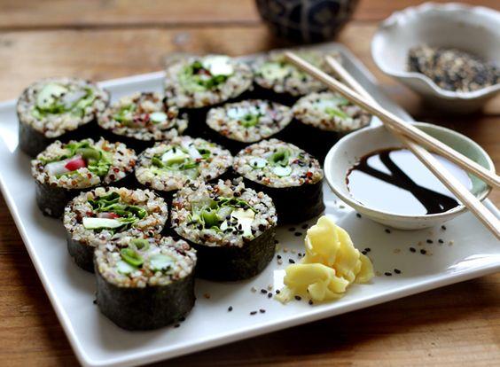 Quinoa sushi..