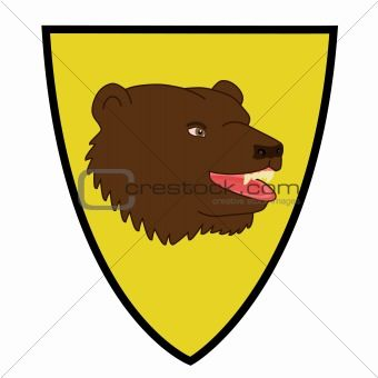 Coat of arms with bear head