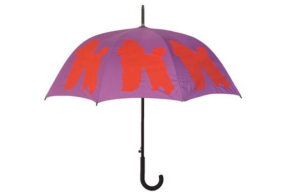 One Kings Lane - On the Go - Walking Stick Umbrella, Poodle