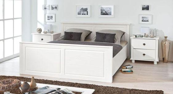 Bett  - landhaus schlafzimmer weiß