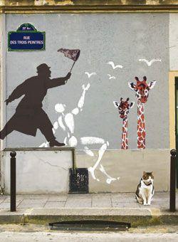 Jérôme Mesnager, Némo, et un autre artiste dont le nom je ne connais pas. Art urbain à Paris, 20ième arrondissement. #street art