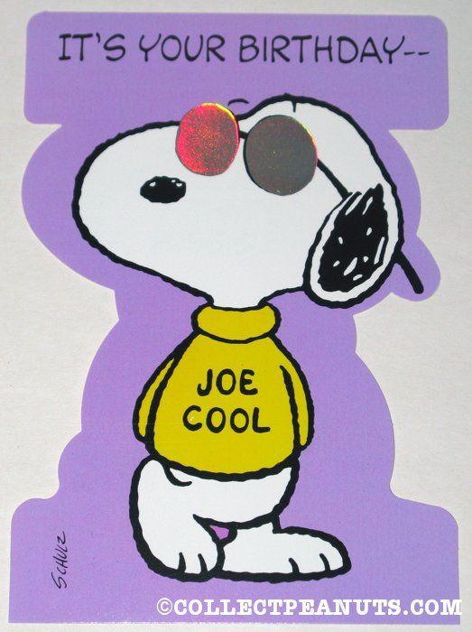 Snoopy Birthday Joe Cake
