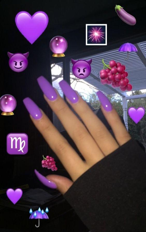 Please Wait Purple Acrylic Nails Purple Nails Cute Acrylic Nails