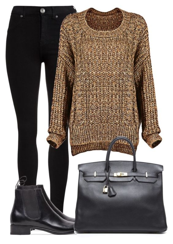 """""""chelsea"""" by luk124 ❤ liked on Polyvore featuring Dr. Denim, Le Yucca's and Hermès"""