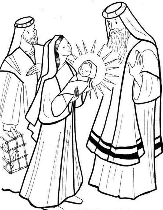 Presentazione Di Gesu Al Tempio 7 Gif 813 1045 Jesus Coloring