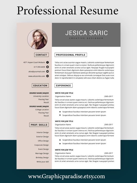Professional Resume Template Instant Download 3 Page Resume Etsy In 2021 Resume Template Professional Resume Template Word Creative Resume Templates