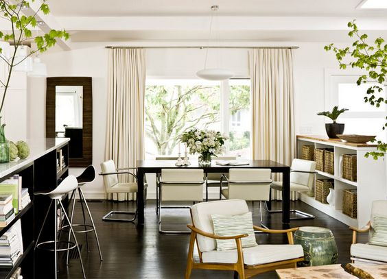 natural...: Interior Design, Dining Room, Ranch House, Living Room, Midcenturymodern, Century Modern