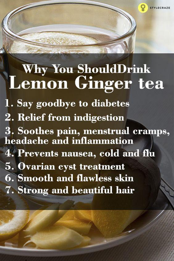 Lemon ginger tea – Health benefits