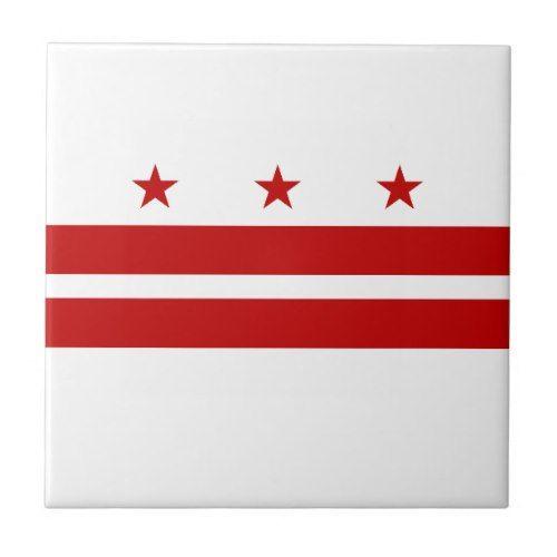 Patriotic Washington Dc State Flag Ceramic Tile Zazzle Com Washington Dc State State Flags Flag